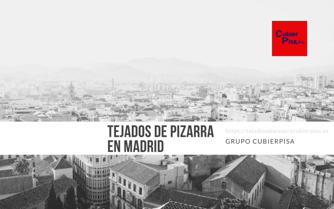 Tejados de pizarra en Madrid